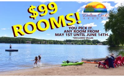 Special – $99 Any Room May 1 – June 14, 2020 (except Villas)